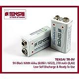 Tensai TR-9V 9V-Block 6LR61 6F22 Ready2use Low Self Discharge Akku (270mAh, 4-er Pack)
