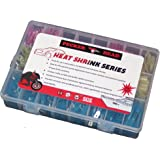 Heat Shrink Wire Connector Kit, Electrical Insulated Crimp Terminals for Automotive Marine and Off Road Use, 270 PC Kit includes Butt Ring Hook Spade/Fork Types 10 thru 22 AWG Color Coded Assortment