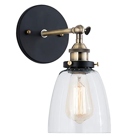 Light society camberly wall sconce clear glass shade with brushed light society camberly wall sconce clear glass shade with brushed bronze finish vintage modern aloadofball Image collections
