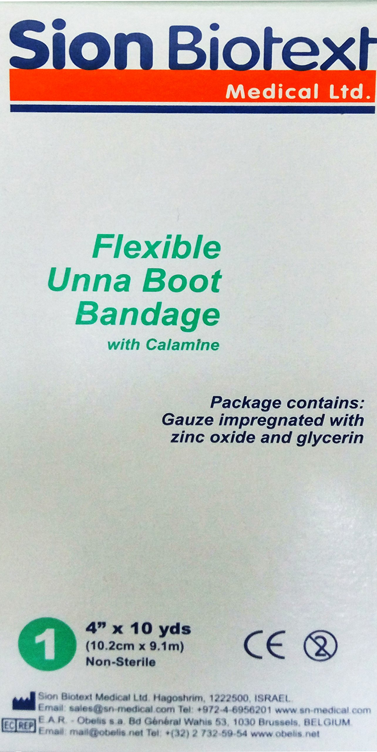 Unna Boot Bandage with Zinc Oxide and Calamine (4'' x 10 yards)