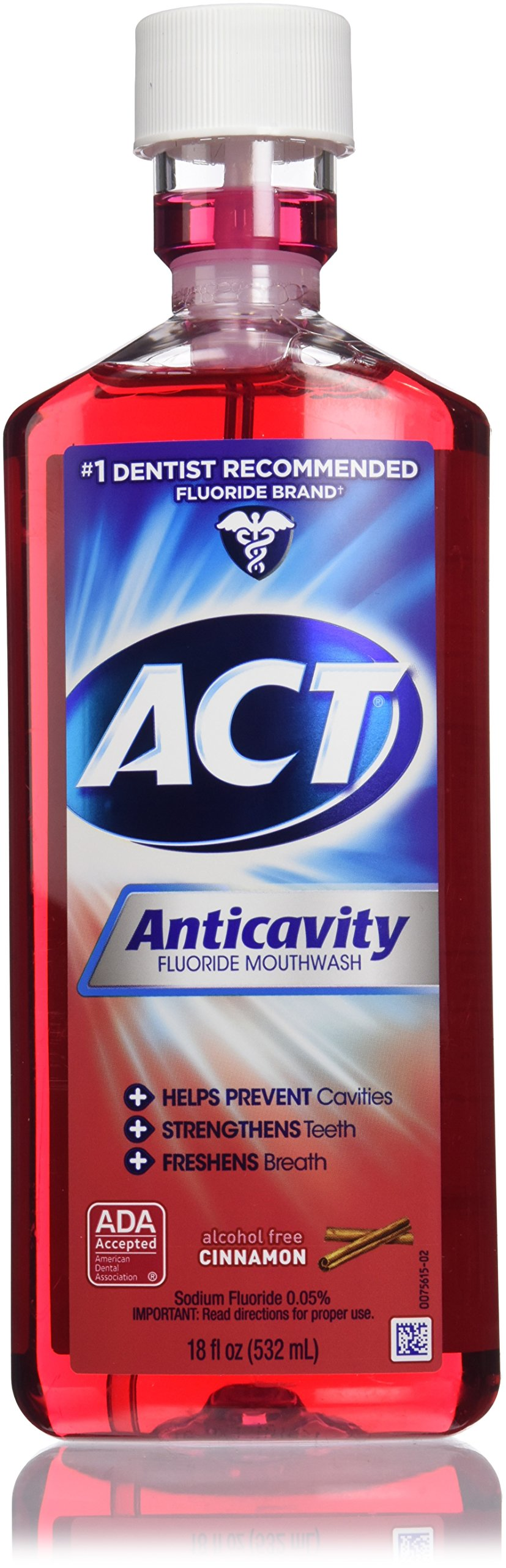 ACT Anticavity Fluoride Rinse Cinnamon 18 oz (Pack of 6)