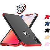 ERLI Funda iPhone X, iPhone X Carcasa 360 Grados de protección Completa 3 en 1 Caja del teléfono, Dispone de Cinco Colores Intercambiables en una única Funda (Rojo, Negro, Azul, Oro, Oro Rosa)