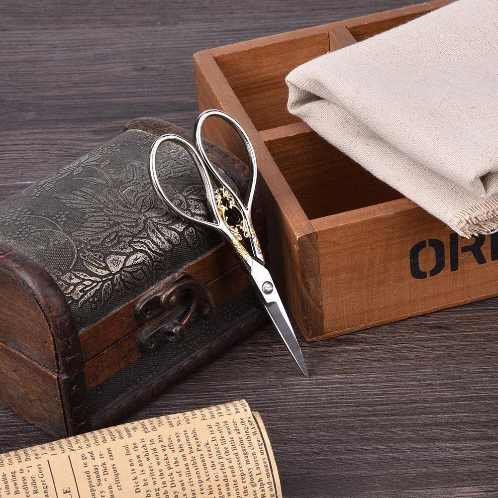 Tijeras de 1 Pieza Negro con patr/ón Dorado Tijeras de Sastre de Acero Inoxidable Estilo Antiguo Accesorios de Costura para el hogar