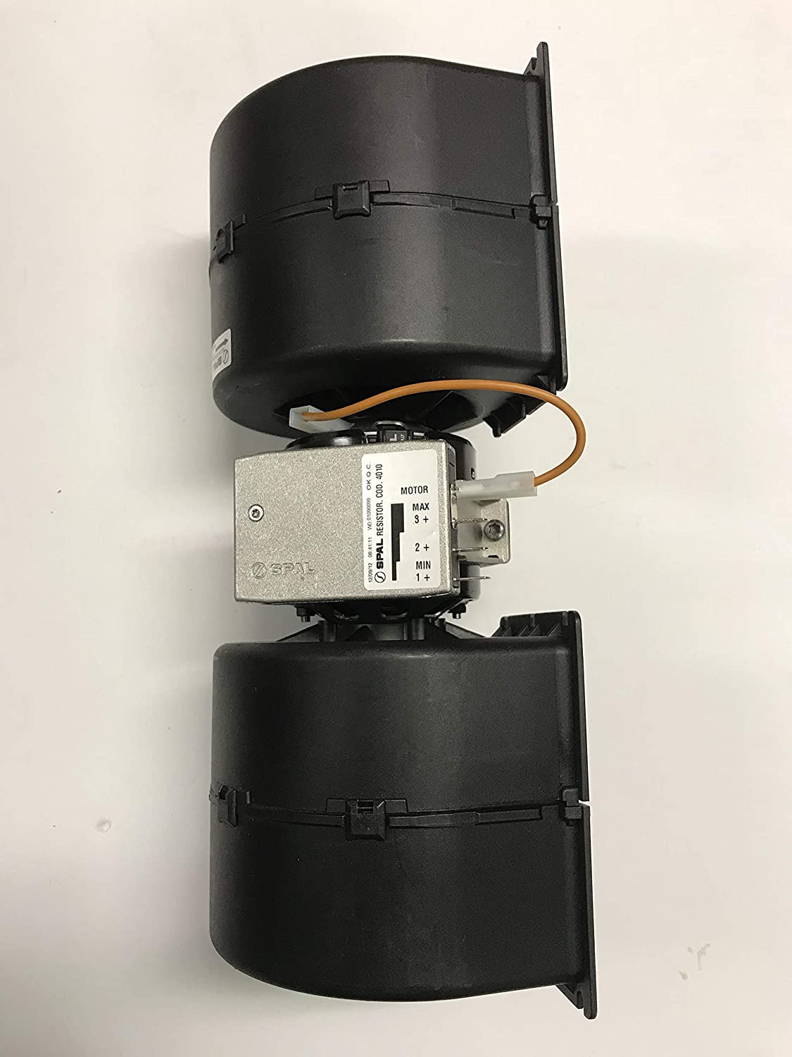 12 Volts SPAL 3-Speed Double blower assembly