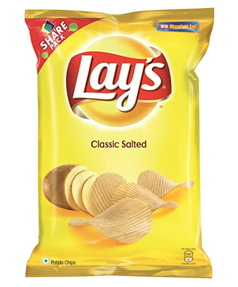 Lays Classic Salted Potato Chips 90g Amazon Cloudtail India