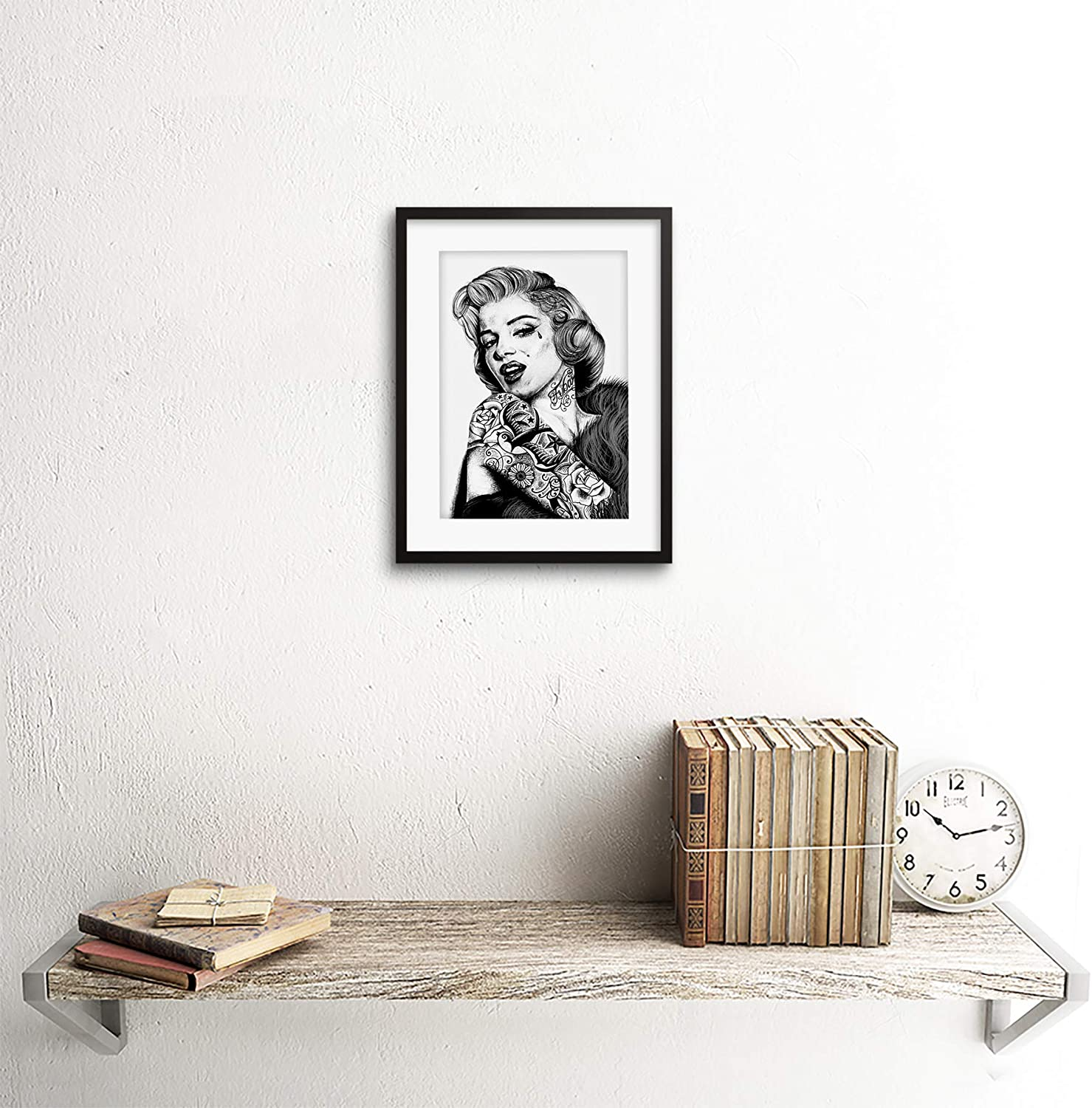 Wee Blue Coo Marilyn Monroe Tattoo Inked IKON Icon Framed Art Print by W.Maguire F97X12456