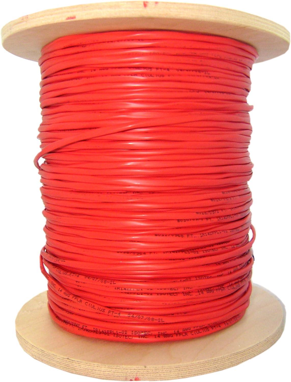 62.5//125 Duplex Bulk Plenum Zipcord Fiber Optic Cable Spool Orange Multimode 1000 Foot