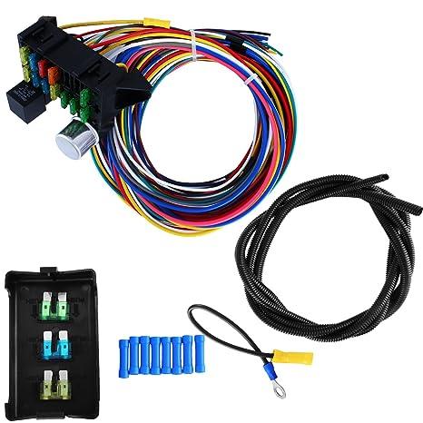 lovshare 12 circuito Universal mazo de cables caja de fusibles mazo de cables Kit de coche