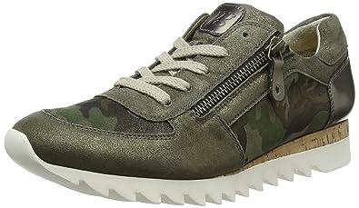 Paul Green Damen Sz Camouflage Met Oliv Sneaker