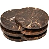 Brown Marble Coaster a set of 6 stone Coasters for your bar and home drinks