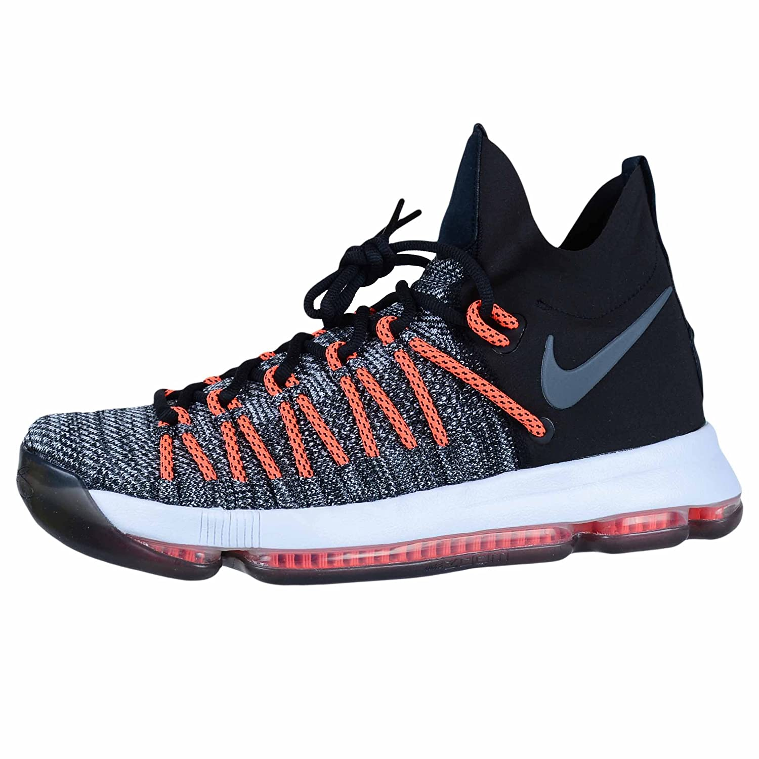 new product 7a8c0 2065d Amazon.com   Nike Zoom KD9 Elite Mens Basketball-Shoes 878637-010 10 - Black White-Dark  Grey-Hyper Orange   Basketball