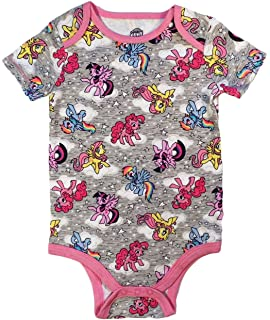 Hasbro My Little Pony Twilight Sparkle Fluttershy Rainbow Dash Pinkie Pie Baby Girls Bodysuit