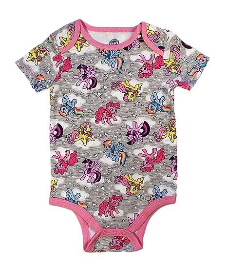 amazon com my little pony baby girls one piece snap bodysuit clothing