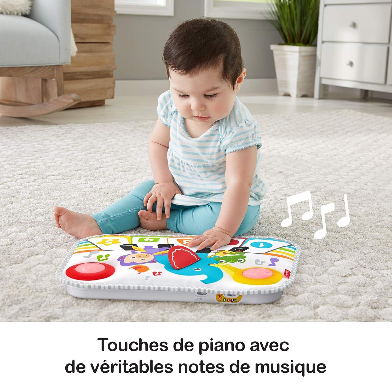 GFJ49 sons Fisher-Price Mon Piano de Lit pour lit b/éb/é /à barreaux d/ès la naissance 3 niveaux de jeu m/élodies et lumi/ères
