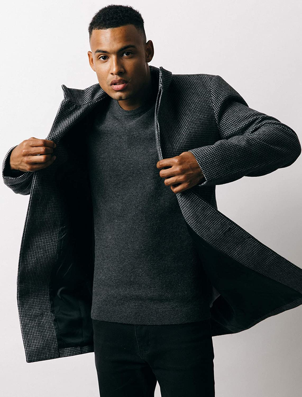 Tokyo Laundry Libertas Wool Blend Coat Men/'s Leisure Coat 1J9679 Grey New