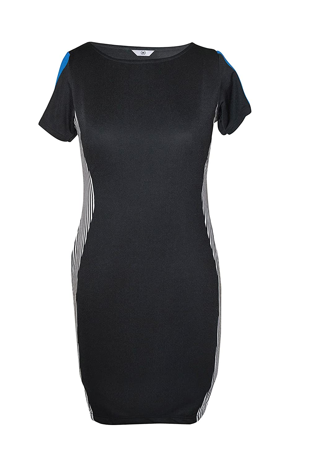 Bayside Woman's Bodycon Black Colored Short Dress With Half Sleeves