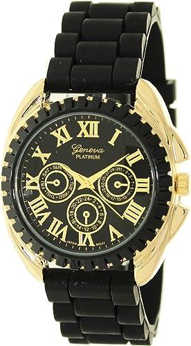 Geneva Platinum 2135.Gold.Black Hombres Relojes