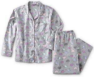 b37b46edca46e Joe Boxer Women s Plus Size 2-Piece Flannel Pajamas Shirt ...