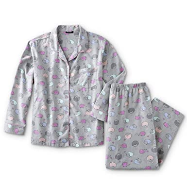 0dccff6e47 Joe Boxer Women s Plus Size 2-Piece Flannel Pajamas Shirt   Pant Set  (Hedgehogs