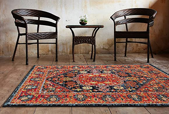 Well Woven Diana Blue Trellis Multi-Color Modern Area Rug 8×11 7 10 x 10 6 Yellow Oriental Lattice Panel Plush Super Soft Carpet