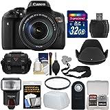 Canon EOS Rebel T6i Wi-Fi Digital SLR Camera & EF-S 18-135mm IS STM Lens with 32GB Card + Case + Strap + Filter + Flash + Remote + Kit