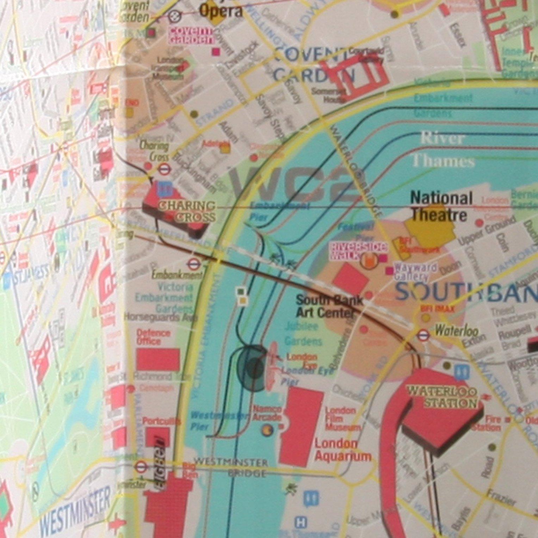 London Center Map.Terramaps London Street Maps Tube Laminated Alberto Michieli
