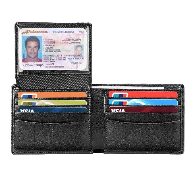 Amazon.com: Billetera para hombre, billetera delgada de ...