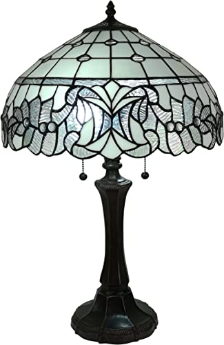 Amora Lighting AM315TL16 Tiffany Table Lamp, White