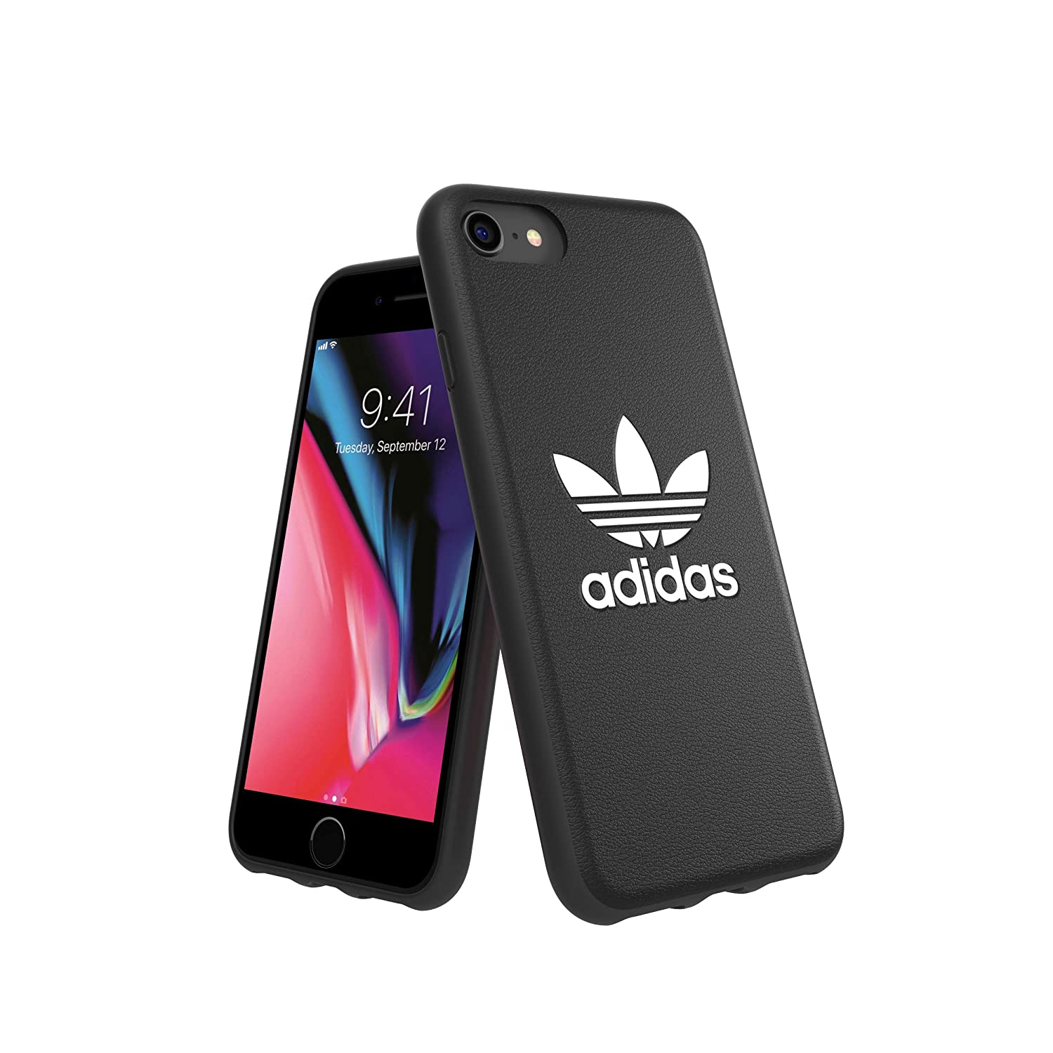 Carcasa ADIDAS Moulded Case Basic FW 18 Negro/Blanco Compatible con iPhone 6/6S/7/8