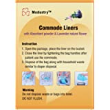 Medustry Commode Liners with Super Absorbent pad, 60 Liners. $0.50 per Liner. Instantly Convert Human Waste into Gel