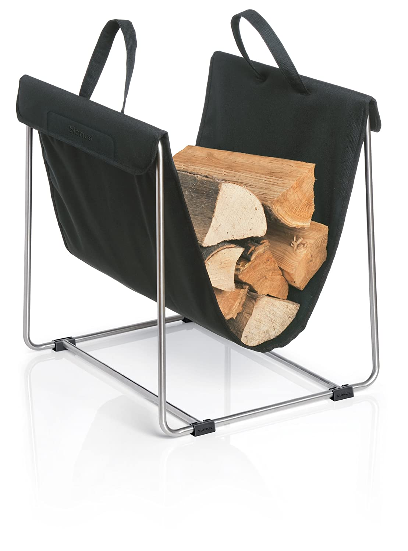 amazon com blomus 65340 log basket black home u0026 kitchen