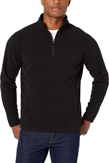 Men's Quarter-Zip Polar Fleece Jacket $17.00