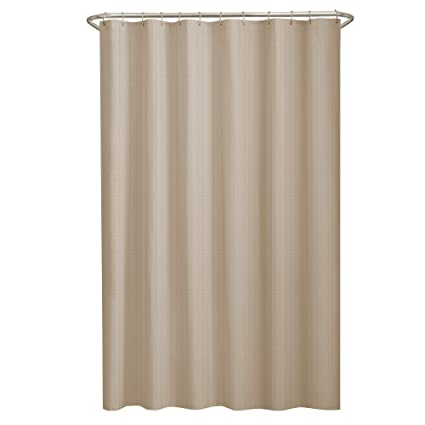 Amazon MAYTEX Mills Norwich Textured Fabric Shower Curtain Or