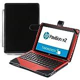 Navitech housse étui protection luxe simili cuir pour HP Pavilion 10 X2
