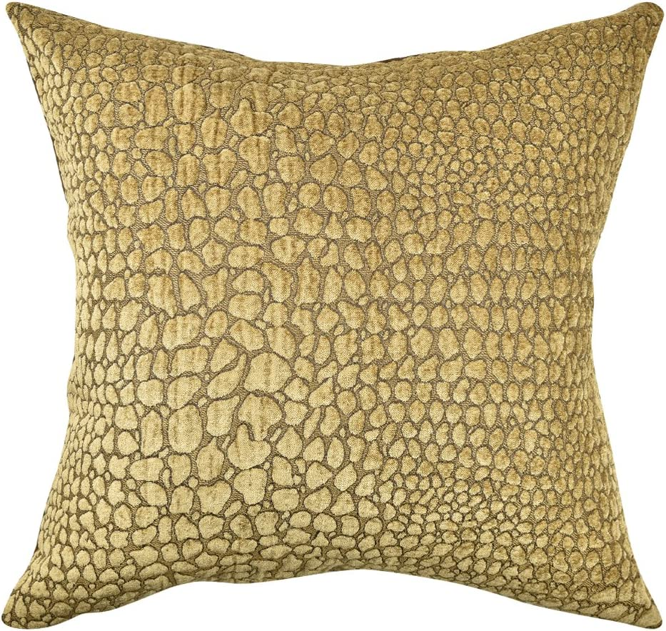 Amazon Com Vesper Lane An05tnz18i Neutral Flocked Animal Print Throw Pillow 18 X 18 Tan Industrial Scientific