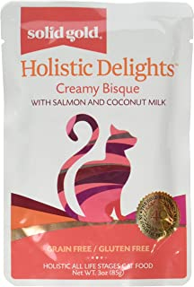 product image for Discontinued By Manufacturer: Solid Gold Holistic Delights Wet Cat Food, Salmon, 3Oz 12 Count