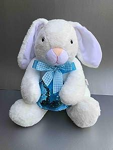 Giveaway: Sunshine Global White Floppy Ear Bunny Blue Sequin Egg