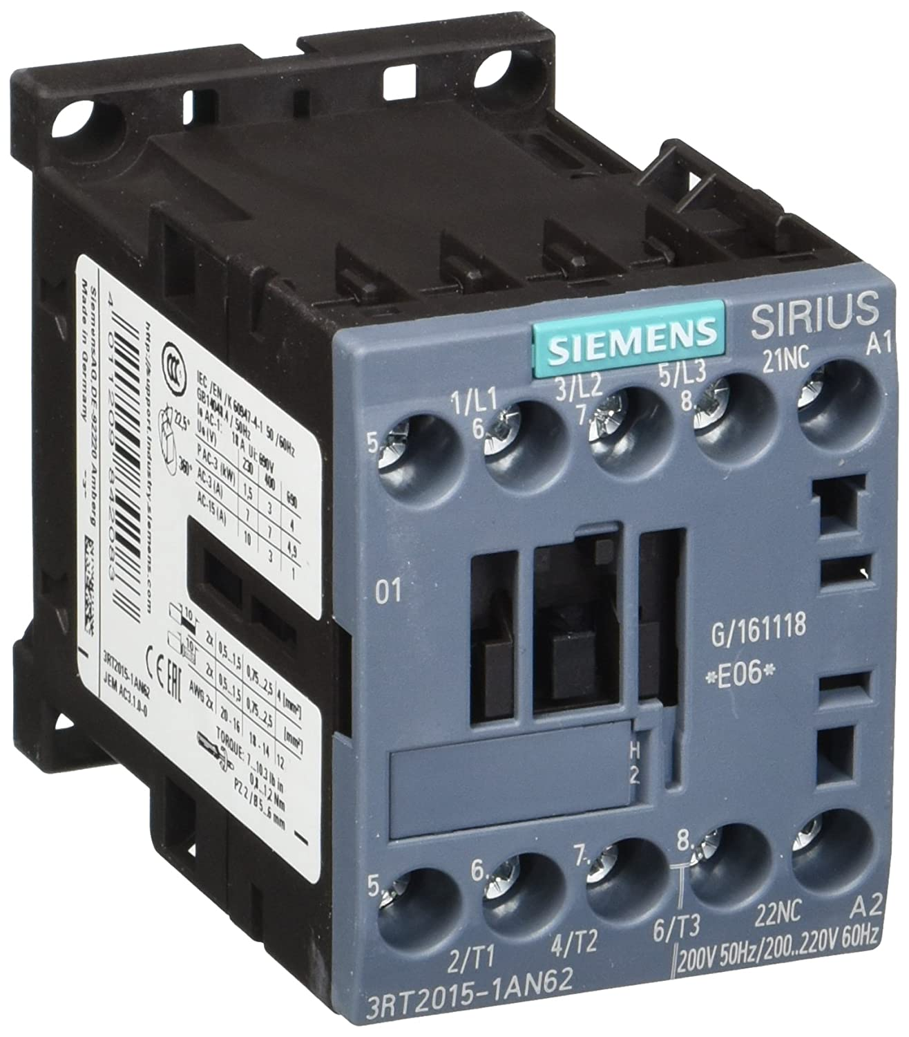Siemens 3RT20151AN62 Screw Terminal