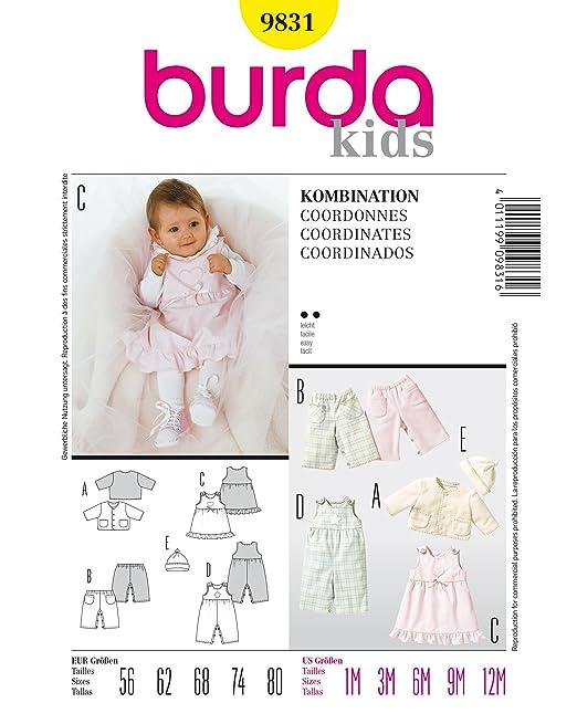 Burda 9831 Schnittmuster Jacke Hose Kleid MŸtze (Baby, Gr, 56 - 80) Level 2 leicht