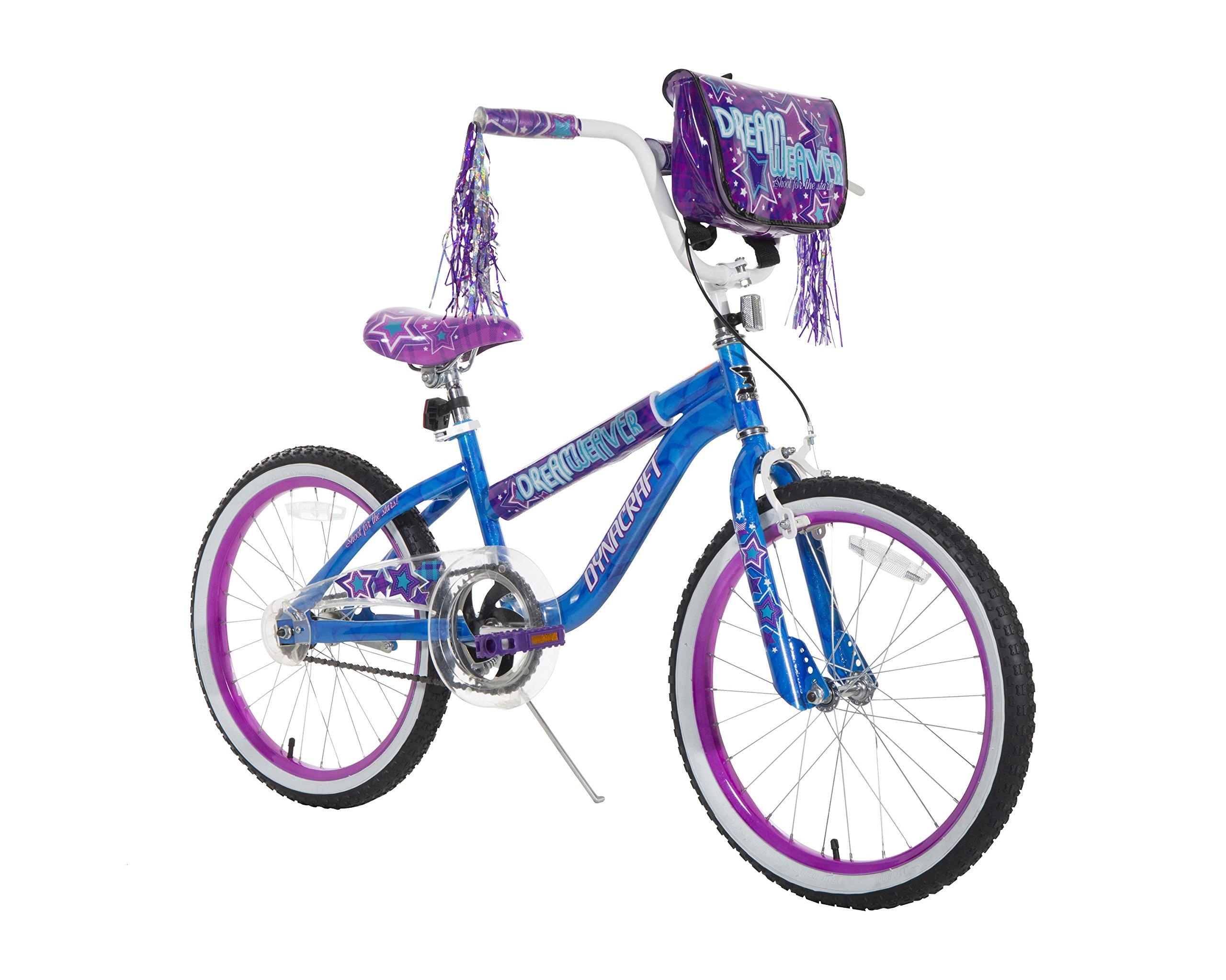 Dynacraft Girls Dream Weaver Bike, Blue/Purple/White/Black, 20''/One Size
