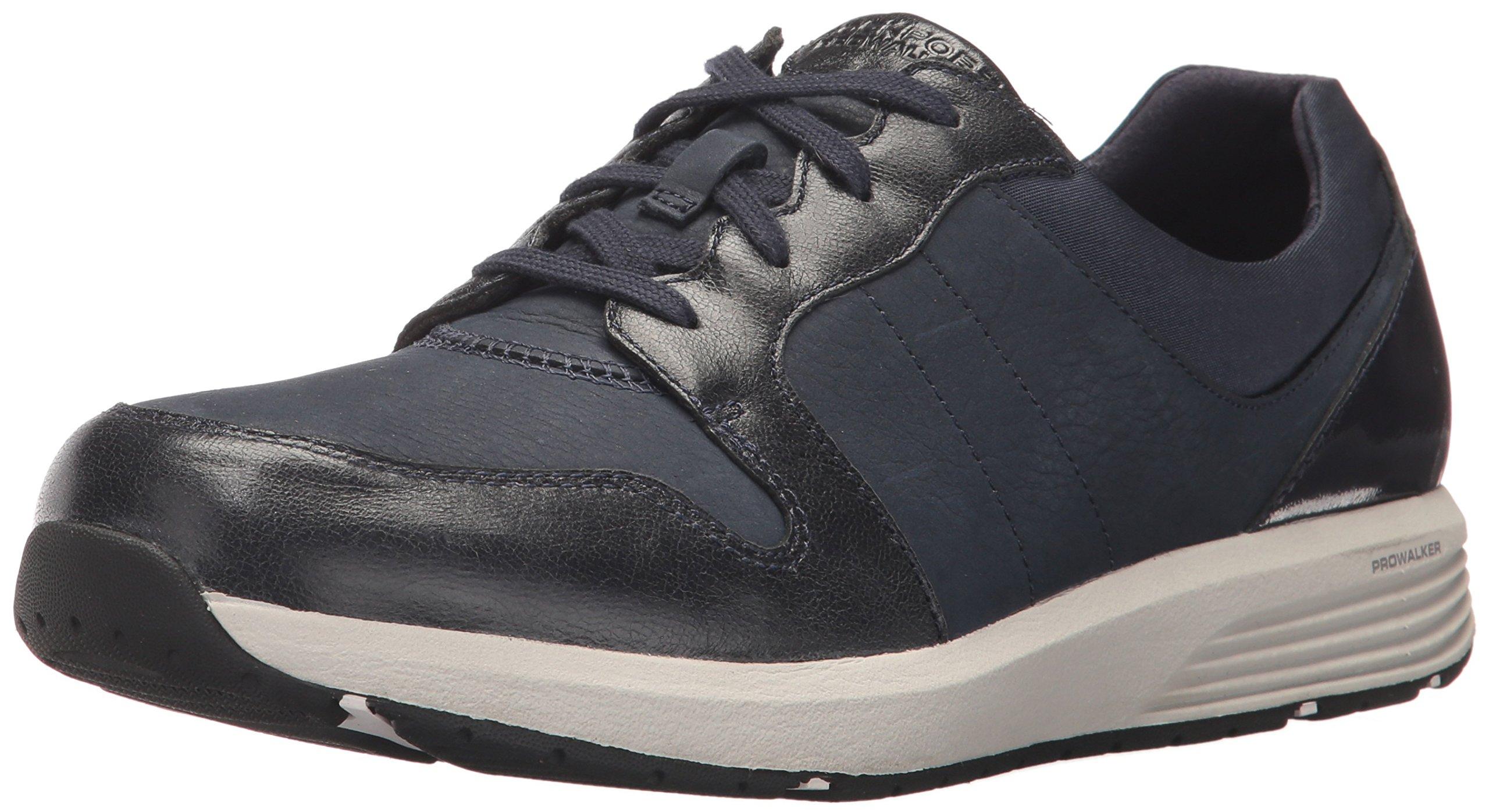 Rockport Women's Trustride Derby Trainer Fashion Sneaker, Dark Blue, 8.5 M US by Rockport
