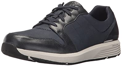 Rockport Women's Trustride Derby Trainer Fashion Sneaker, Dark Blue, ...