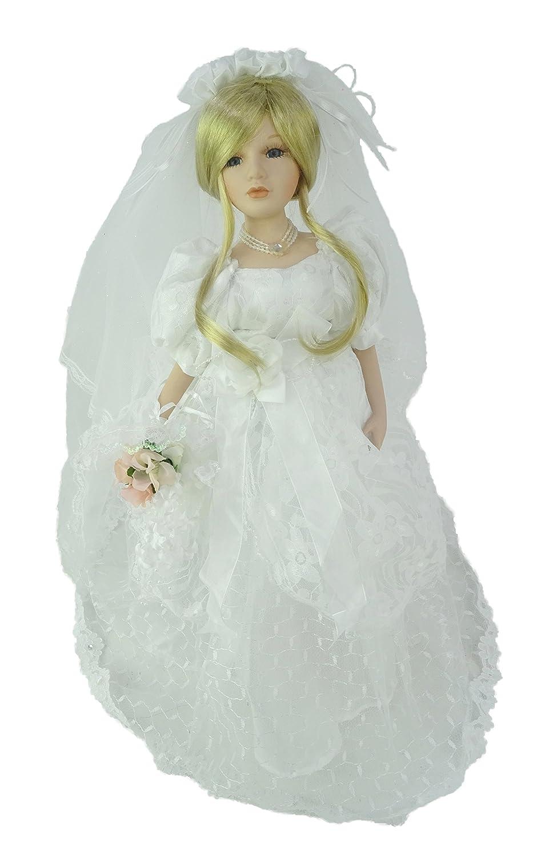 TOYLAND Poupée en Porcelaine 45cm en Robe de Mariée - Jouets Filles Toyland®