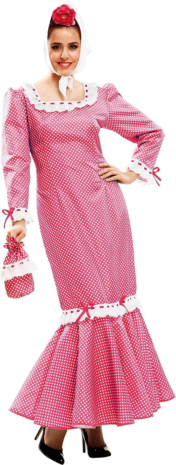 My Other Me - Disfraz de madrileña para mujer, talla M-L, color rosa (Viving Costumes MOM02324): Amazon.es: Juguetes y juegos