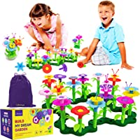 Limmys Build My Dream Garden - STEM Toys for 3 Year Old Girls and Boys – 105 PCS Includes Velvet Drawstring Storage Bag…
