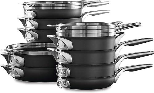 Calphalon Premier SpaceSaving Nonstick Pots and Pans