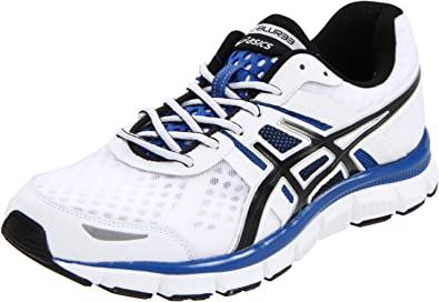 ASICS Men's Gel-Blur33 Running Shoe,White/Black/Royal,8 M