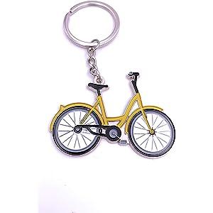 Llavero de bicicleta y corredor, color plateado, acero ...