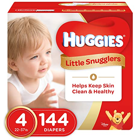 NEW HUGGIES Little Movers Diapers Size 4 144 Count Packaging May Vary