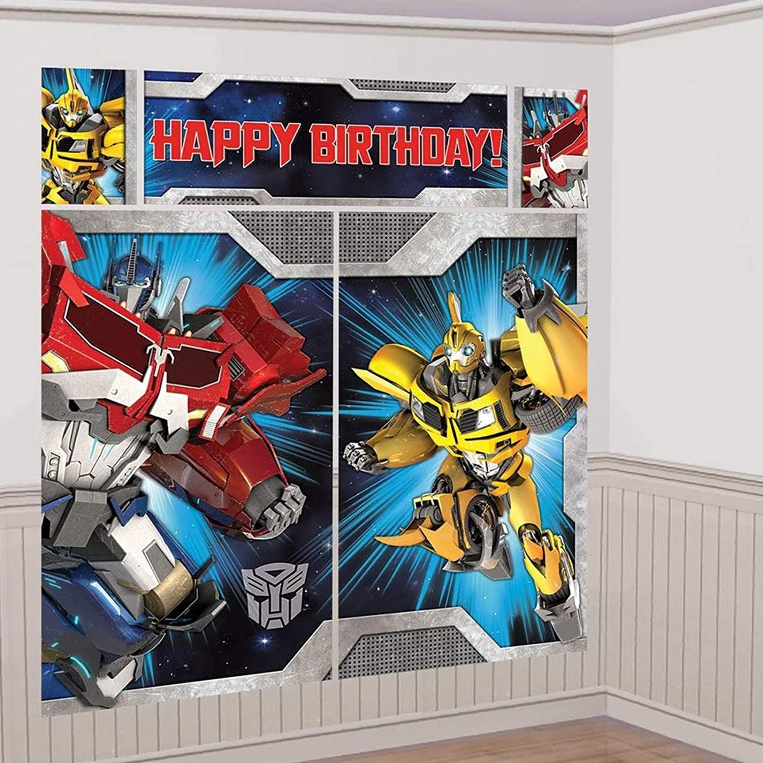amscan Transformers Scene Setter Wall Decorating Kit (Each)
